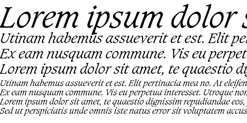 Sample of Caxton Light Italic