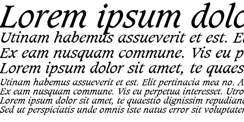 Sample of Caxton LT Book Italic