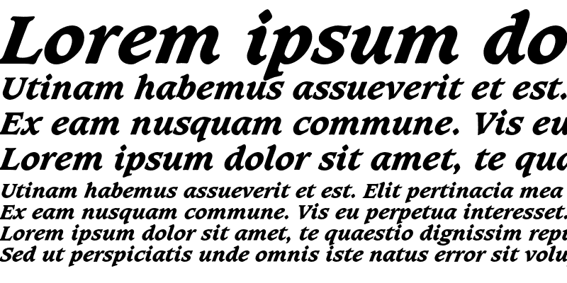 Sample of CaxtonEF ExtraBold Italic
