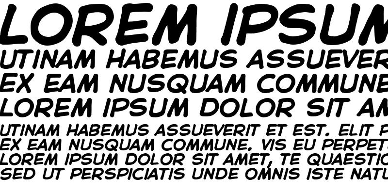 Sample of CC Astro City Bold Italic