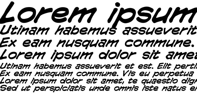 Sample of CCComicrazy Bold Italic