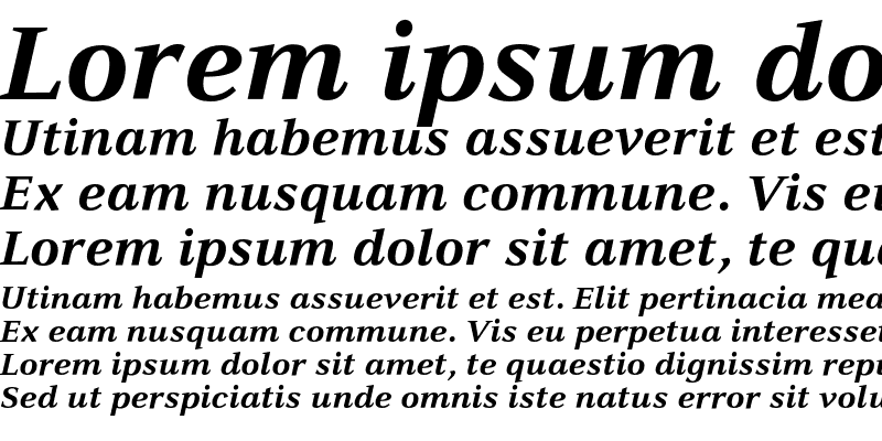 Sample of CelesteST Bold Italic