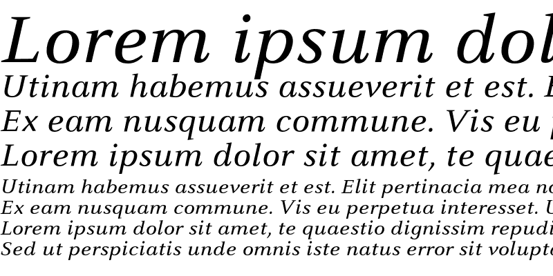 Sample of CelesteST Italic