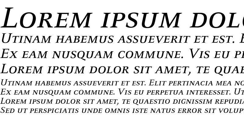 Sample of CelesteST SC Italic