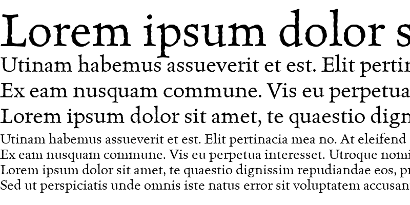 Sample of CelestiaAntiqua Roman