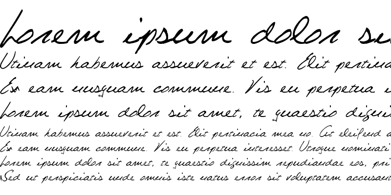 Sample of Celine Dion Handwriting Regular