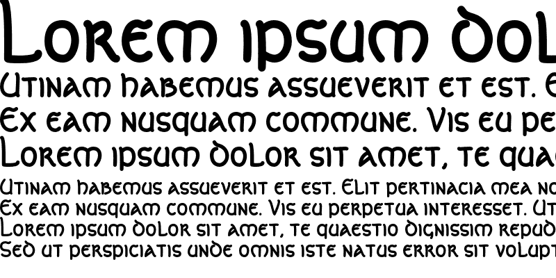 Sample of CelticLionAOE Bold