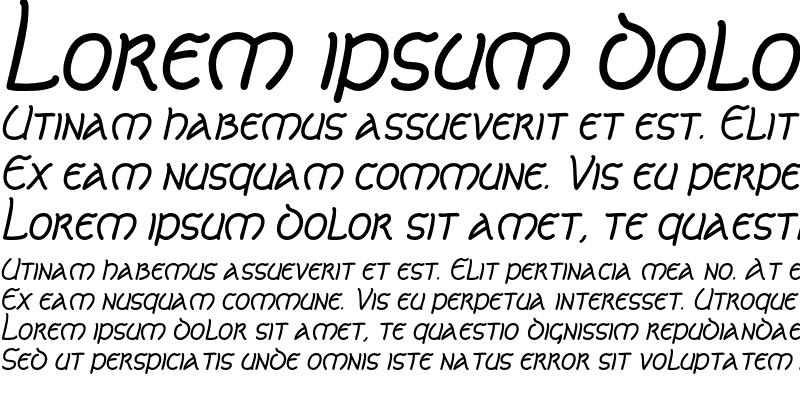 Sample of CelticLionAOE Italic