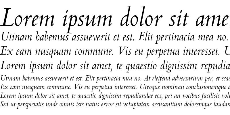 Sample of Centaur MT A Italic