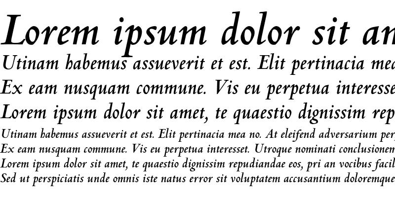 Sample of Centaur MT Std Bold Italic