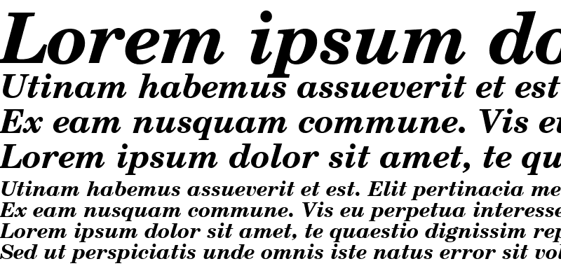 Sample of CentSchbkGreek BT Bold Inclined