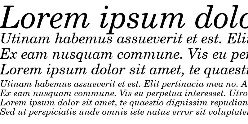 Sample of CentSchbook BT Italic