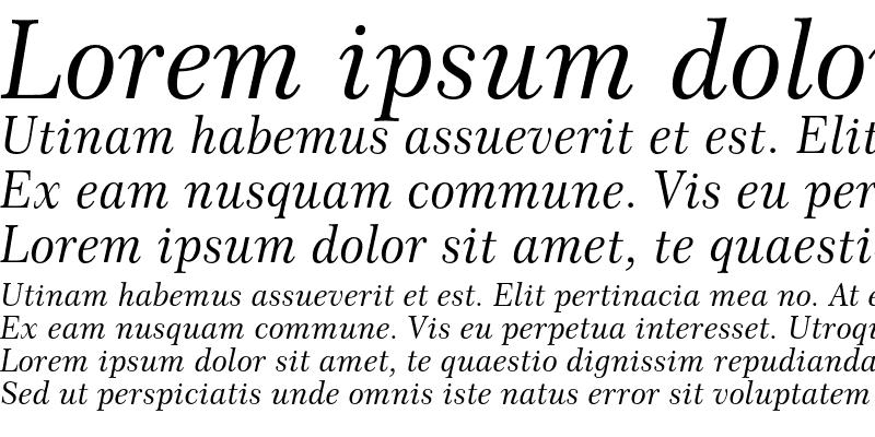 Sample of Century 751 Italic