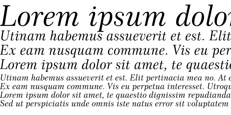 Sample of Century 751 No.2 Italic