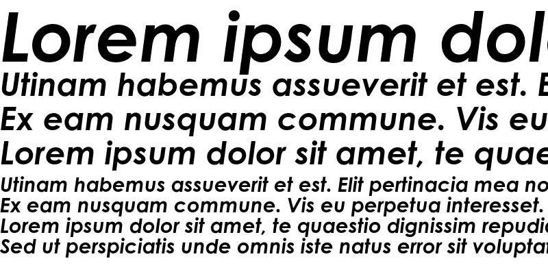 Sample of Century Gothic Std Bold Italic