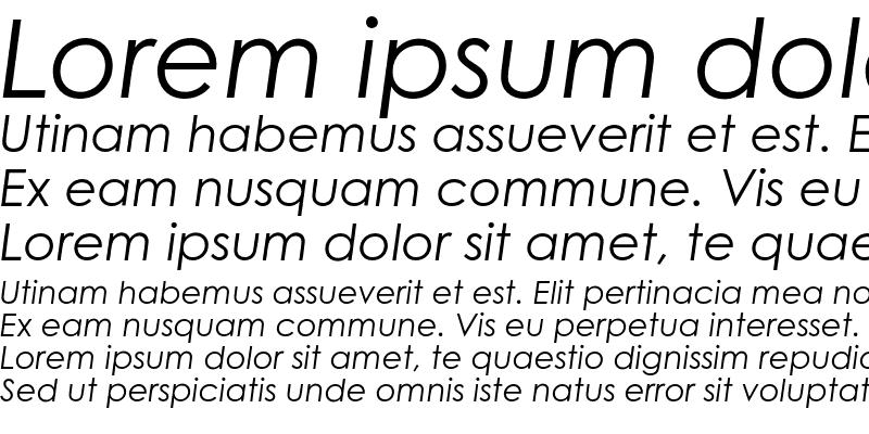 Sample of Century Gothic Std Italic