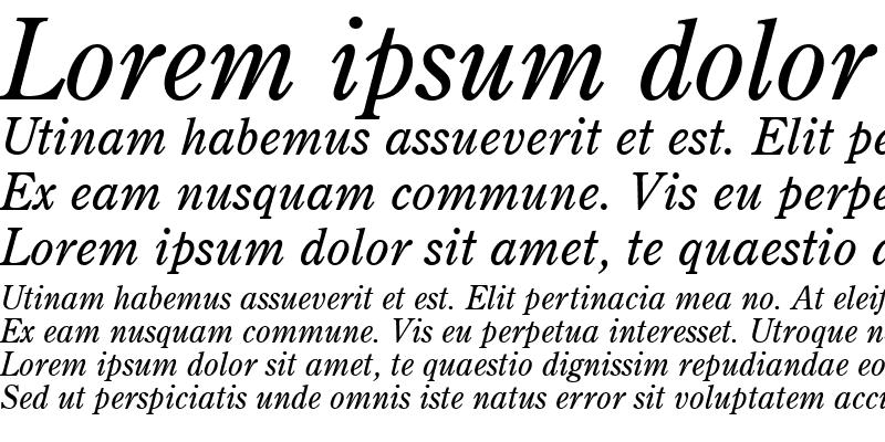 Sample of Century Retrospective SSi Italic