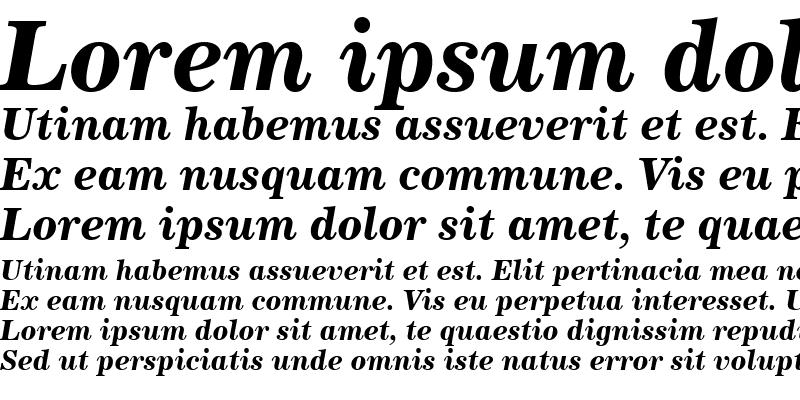 Sample of Century731 BT Bold Italic