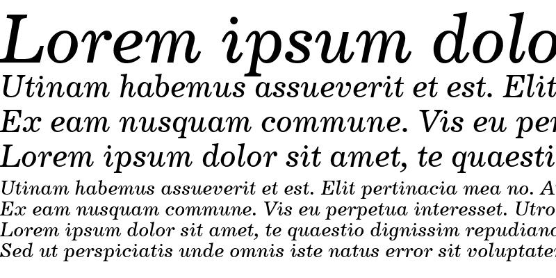 Sample of Century731 BT Italic