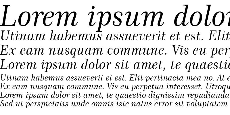 Sample of Century751 No2 BT Italic