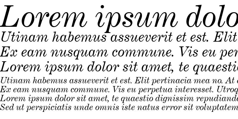 Sample of CenturyExpd BT Italic