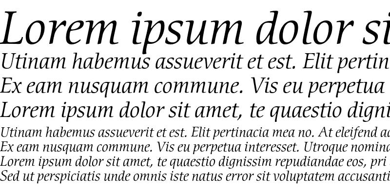 Sample of CerigoEF Book Italic