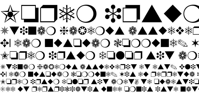 Sample of Chancery Ornaments SSi Regular