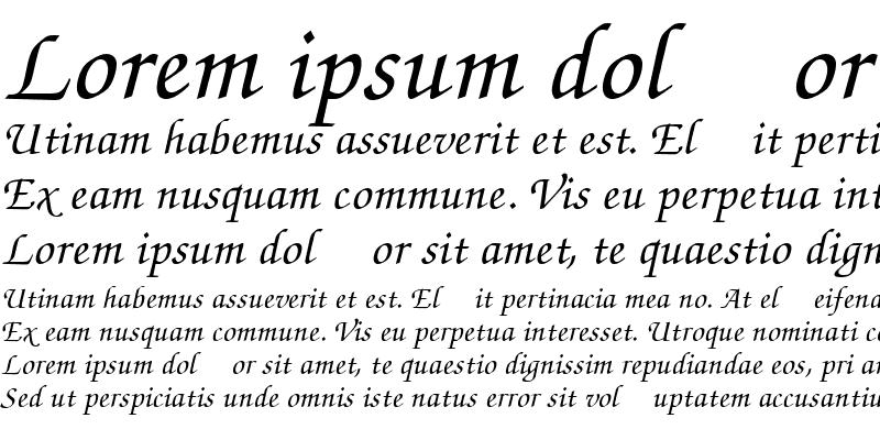 Sample of Chancery Script Medium SSi Medium