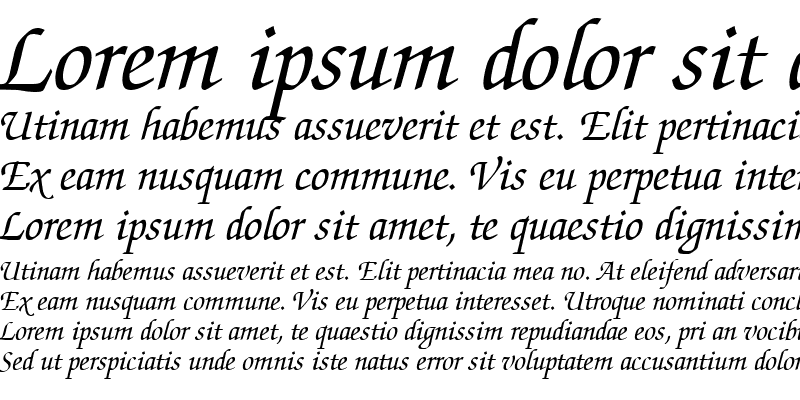 Sample of Chancery Script SSi Italic
