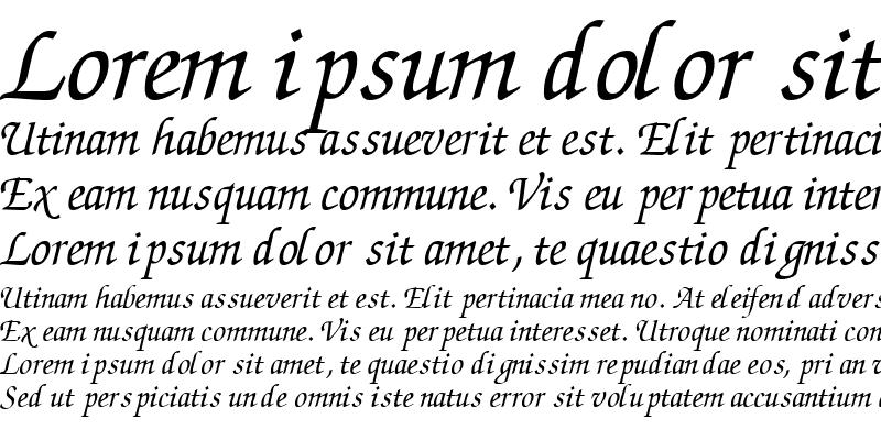 Sample of ChanceryScriptSSK Italic