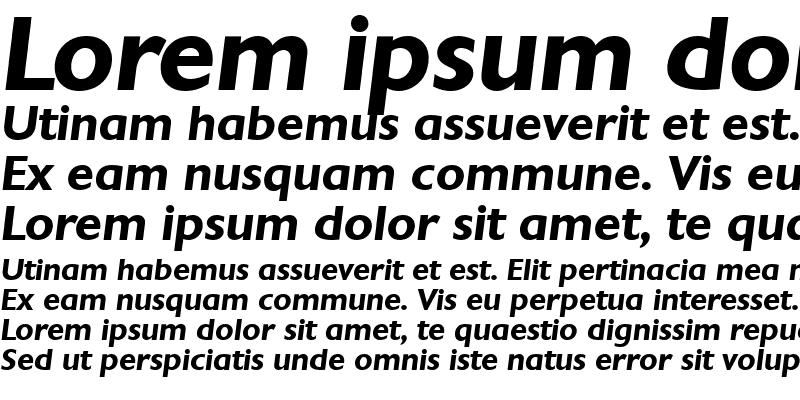 Sample of Chantilly Bold Italic
