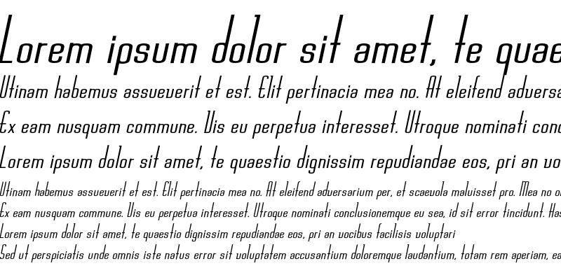 Sample of Chasline Bold Oblique