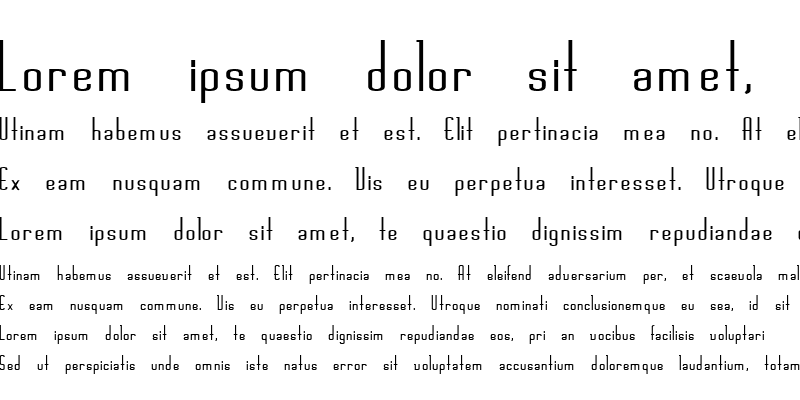 Sample of ChaslineBold Bold