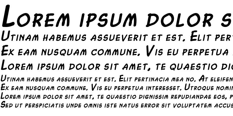 Sample of Chasm BoldItalic
