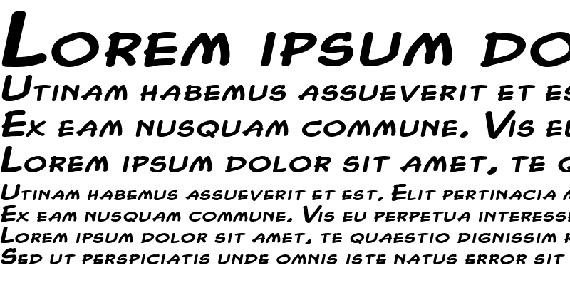 Sample of Chasm Extended Heavy Italic