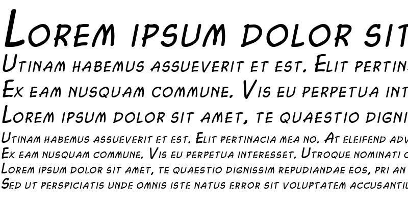 Sample of Chasm Italic