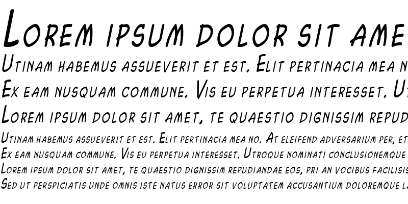 Sample of Chasm Thin Italic