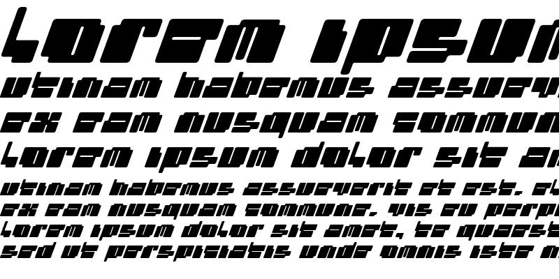 Sample of cheaptype (italic)