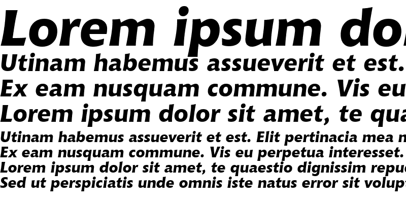Sample of Chianti XBdIt OSF BT Extra Bold Italic
