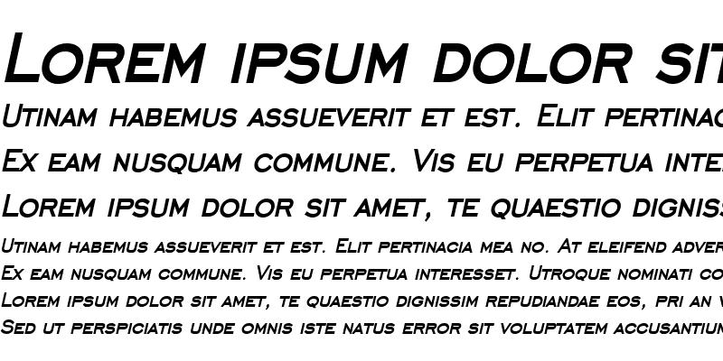Sample of Chisel Condensed Bold Italic