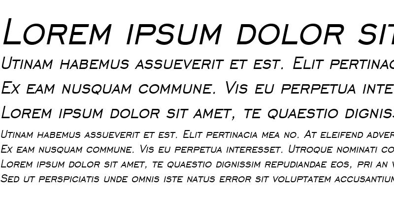 Sample of Chisel Condensed Italic