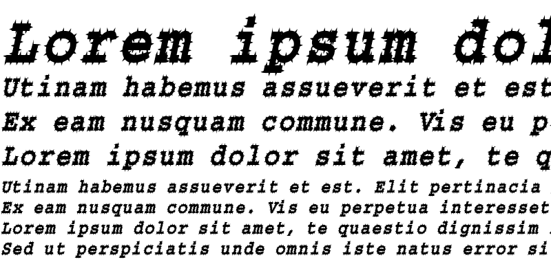 Sample of Chisel-Spiked-Condensed Italic