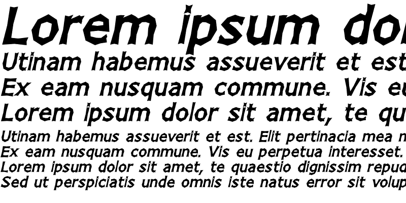 Sample of Chizz Wide High Italic