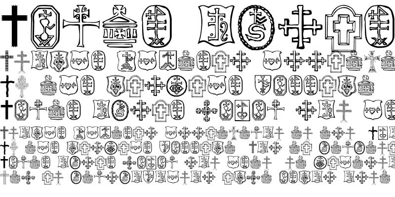 Sample of Christian Crosses IV Regular