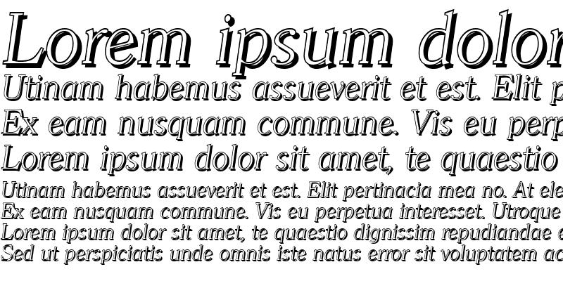 Sample of ChristianBeckerShadow-Xlight Italic