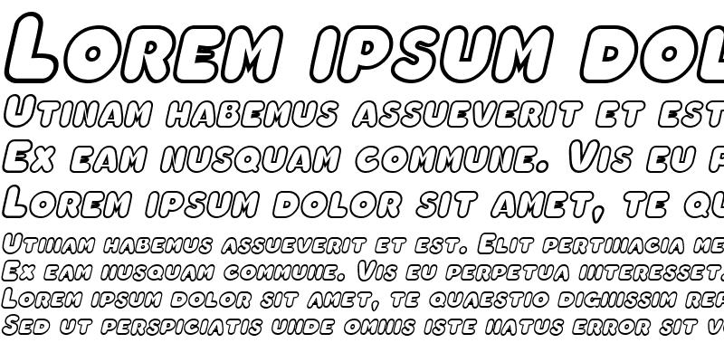 Sample of ChubbyOutline Bold Italic