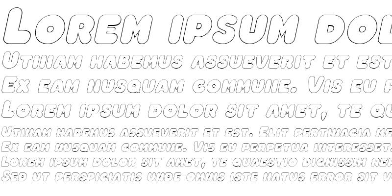 Sample of ChubbyOutline Italic