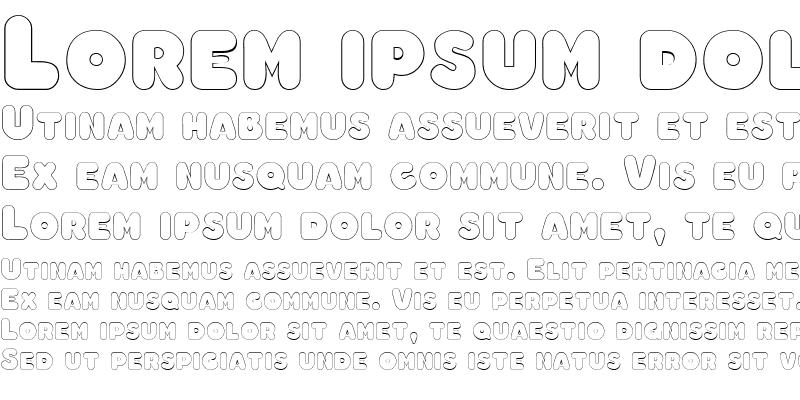 Sample of ChubbyOutline Regular