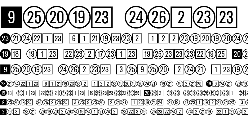 Sample of CircledNumbers DB