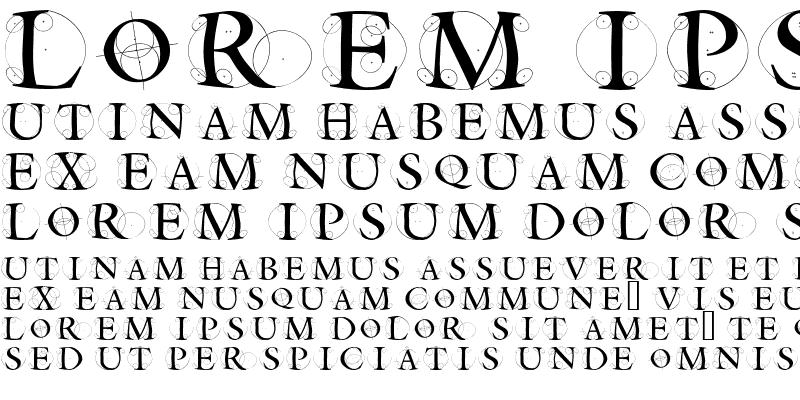 Sample of CircleInitialsFreeshape Regular